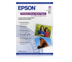 , Inkjetpapier Epson S041315 A3 Premium glans 20vel