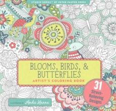 Blooms, Birds, & Butterflies Adult Coloring Book (31 Stress-Relieving Designs)