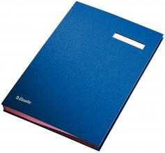 , Vloeiboek Esselte 6210 karton 20tabs blauw