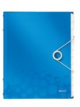 , Sorteermap Leitz WOW PP 12-delig blauw