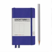 Lt346684 , Leuchtturm pocket notitieboek 90x150 blanco purple