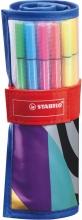 , Fineliner STABILO Pen 68 Just like you edition roletui blauw à 25 kleuren