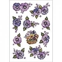 , Etiket Herma bloem paars