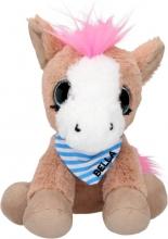 0010461 a , Snukis knuffel paard bella 18cm