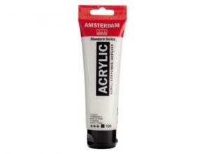 , Talens amsterdam acrylverf tube 120 ml.titaanwit 105