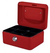 , Geldkist Quantore 150x115x80mm rood