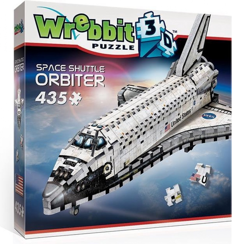 W3d-1008,Puzzel 3d - space shuttle orbiter wrebbit 435 stuks