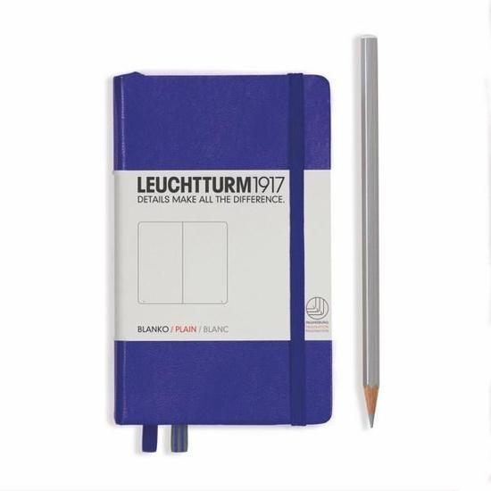 Lt346684,Leuchtturm pocket notitieboek 90x150 blanco purple