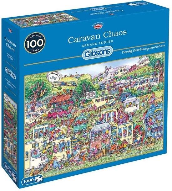 Gib-g6258,Puzzel caravan chaos armand foster gibsons 1000 stuks