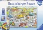 Rav-105588 , Voertuigen in de stad - puzzel - ravensburger  - 100 xxl - 49 x 36