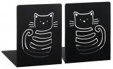 <b>Moses boekensteunen 2 st. zwart met kat</b>,