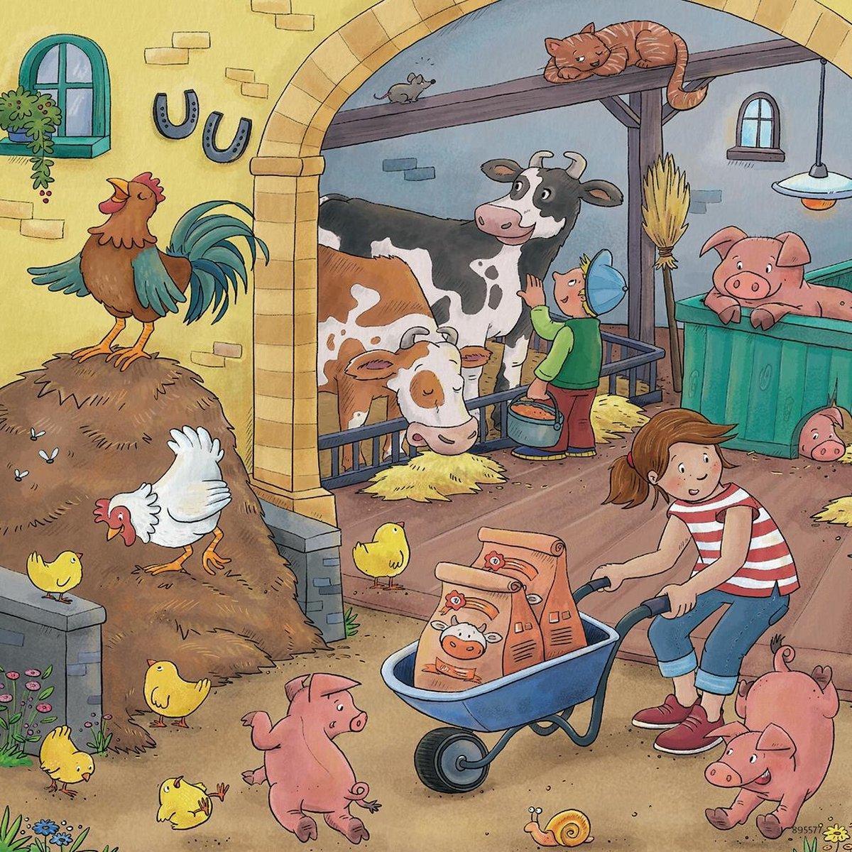 Rav-050789,Puzzel op de boerderij 3x 49 stuks