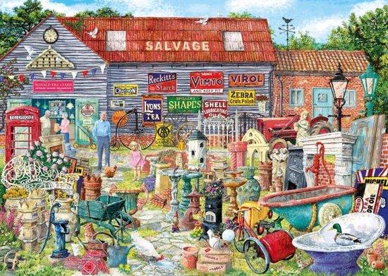 Gib-g6318,Puzzel pots & penny farthings janice daughters gibsons 1000 stuks