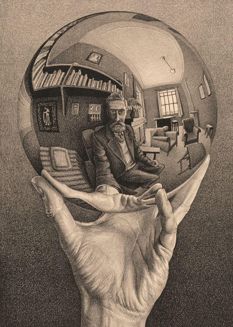 Puz-818,Puzzel - m. c. escher - hand met spiegelende bol - 1000