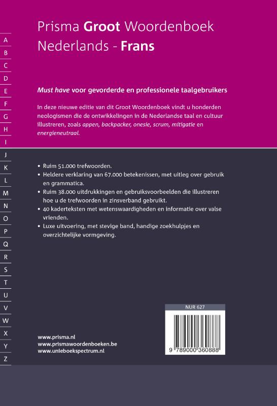 Francine Melka,Prisma groot woordenboek Nederlands-Frans
