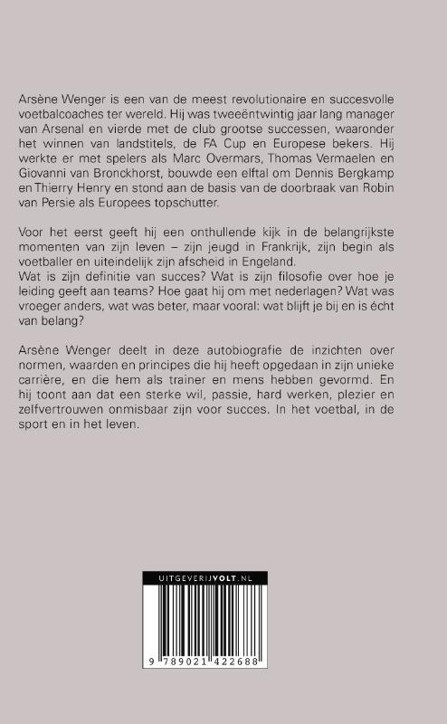 Wenger, Arsène Wenger,Mijn verhaal