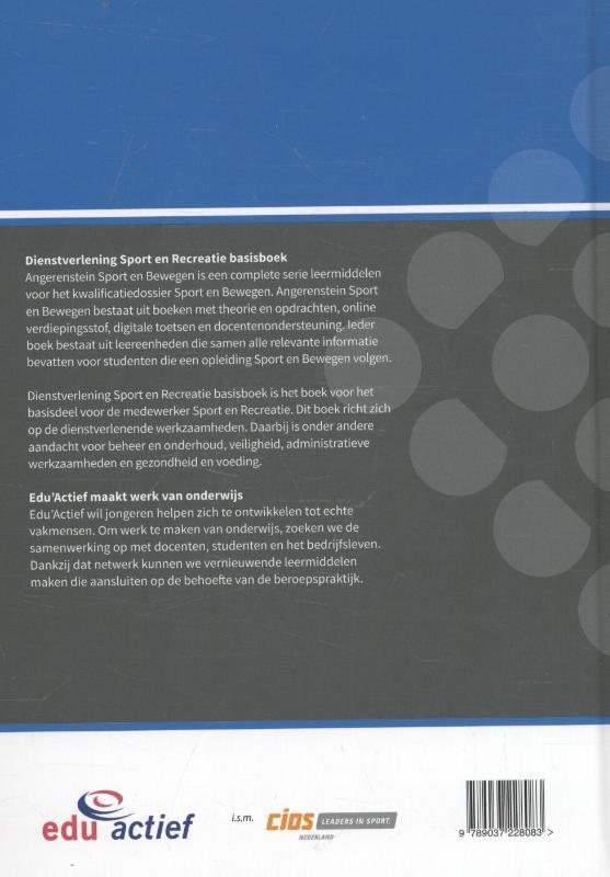 Kristel  Gubbels,Dienstverlening sport en recreatie basisboek