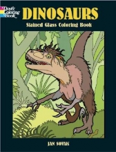 Jan Sovak Dinosaurs Stained Glass Coloring Book