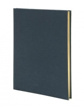 Weskin Lined Cloth Notebook Navy Blue Medium