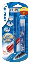 Rollerpen PILOT Frixion BL-FR7 0.35mm + 3 vullingen blauw