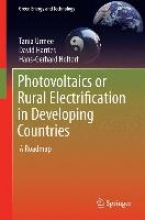 Urmee, Tania Photovoltaics or Rural Electrification in Developing Countries