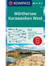 Kompass-Karten Gmbh , Wörthersee, Karawanken West 1:50 000