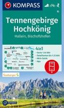 KOMPASS-Karten GmbH , KOMPASS Wanderkarte Tennengebirge, Hochkönig, Hallein, Bischofshofen 1:50 000