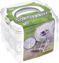 , Sorteerbox Folia stapelbaar 18 delig 150x150x125mm transparant
