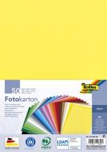 , Fotokarton Folia A4 pak à 50 vel ass