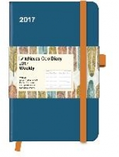 Cool Diary Wochenkalender Petrol/Feather 2017 9x14