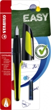 , Vulpen STABILO Easybuddy linkshandig zwart/lime blister