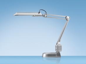 , Bureaulamp Hansa met spaarlamp Ecostar zilver