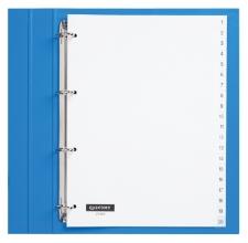 , Tabbladen Quantore 4-gaats 1-20 genummerd wit PP