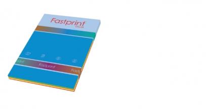 , Kopieerpapier Fastprint A4 80gr 5 felle kleuren 250vel