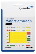 , Magneet Legamaster symbolen 10mm geel assorti