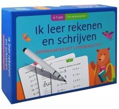 , Oefenkaarten met uitwisbare stift - Ik leer rekenen en schrijven (6-7 j.) 1ste leerjaar
