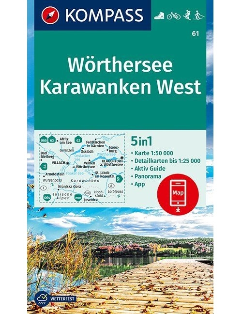 Kompass-Karten Gmbh,Wörthersee, Karawanken West 1:50 000