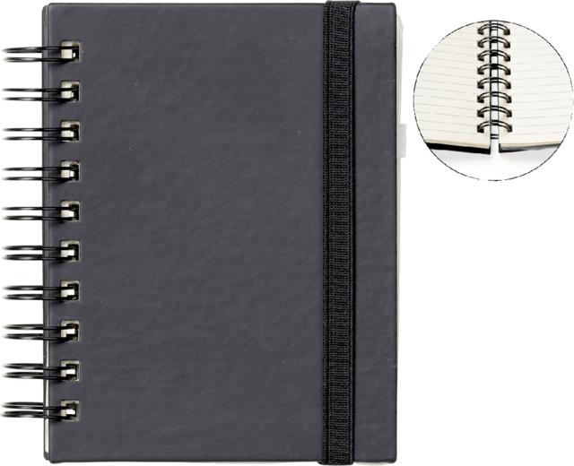 ,Notitieboek Quantore A6 spiraal zwart