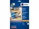 ,ansichtkaarten Avery 105x148mm 170gr wit 25 vel 100 kaarten