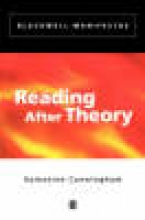 Cunningham, Valentine Reading After Theory