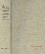 Twain, M Mark Twain`s Letters V 1 1853-1866
