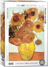 Eur-6000-3688 , Puzzel twelve sunflowers- vincent van gogh - 1000 stuks