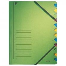 , Sorteermap Leitz 3912 12-delig karton groen
