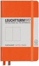 Lt342933 , Leuchtturm notitieboek pocket 90x150 dots  / bullets oranje