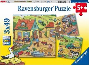 Rav-050789 , Puzzel op de boerderij 3x 49 stuks