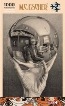 Puz-818 , Puzzel - m. c. escher - hand met spiegelende bol - 1000