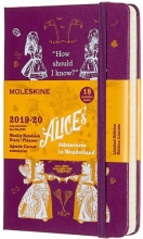 Moleskine 18 MND Agenda - 2019/20 - LE Planner - Alice in Wonderland - Wekelijks - Pocket (9x14 cm) - purple - Harde Kaft