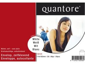, Envelop Quantore bank C6 114x162mm zelfklevend wit 50stuks