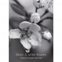, Black & white florals verjaardagskalender