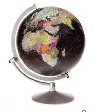 Scanglobe 85072 Globe Midnight Black Ocean (engelstalig) 30 Cm